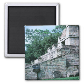 Ancient Mayan Ruins Square Photo Designed Color Magnet