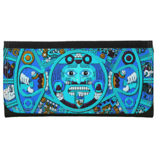 Ancient Mayan Stone Astrology Calendar Wallet