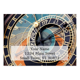 Ancient Medieval Astrological Clock Czech Pack Of Chubby Business Cards