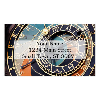 Ancient Medieval Astrological Clock Czech Pack Of Standard Business Cards