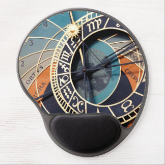 Ancient Medieval Astrological Clock Czech Gel Mouse Mat