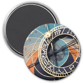 Ancient Medieval Astrological Clock Czech Magnet