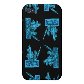 Ancient Mexican Bird Pattern Cover For iPhone 4