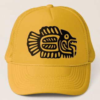 Ancient Mexican Fish Motif Cap