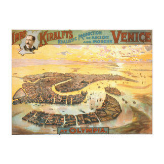 Ancient & Modern Venice at Olympia Aerial View Canvas Print