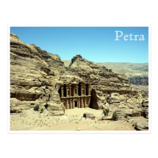 ancient monastery petra postcard