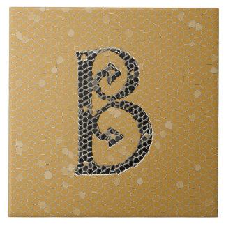 Ancient Monogram Letter B Ceramics Tile