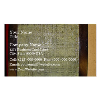Ancient mosaic floor texture business cards