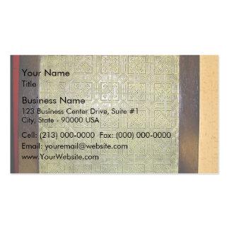 Ancient mosaic floor texture business card templates