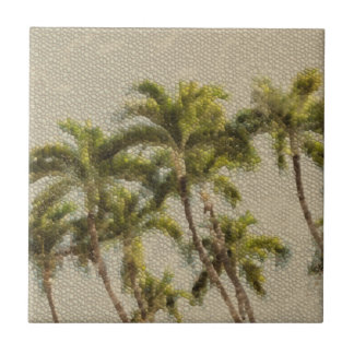 Ancient Mosaic Palms Tile