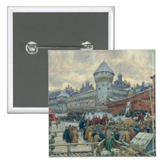 Ancient Moscow, departure after a fight 15 Cm Square Badge