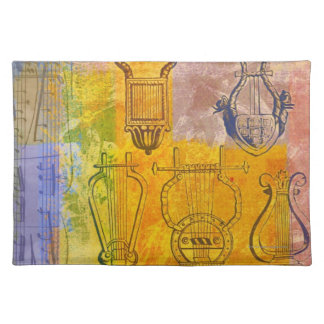 Ancient Musical Instruments Place Mat