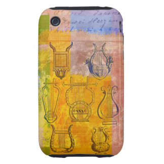 Ancient Musical Instruments Tough iPhone 3 Case