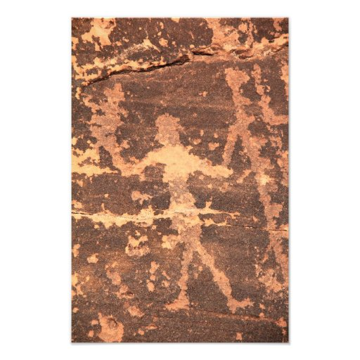 Ancient Native American Petroglyph Dancer Photograph