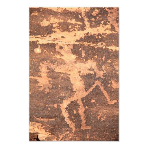 Ancient Native American Zuni Lizardman Petroglyph Art Photo