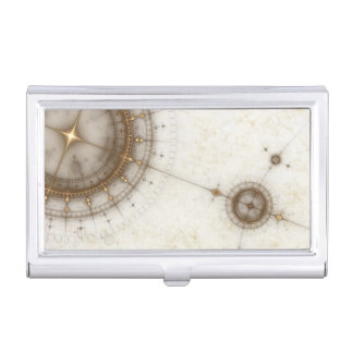 Ancient Nautical Chart, Grunge Business Card Case