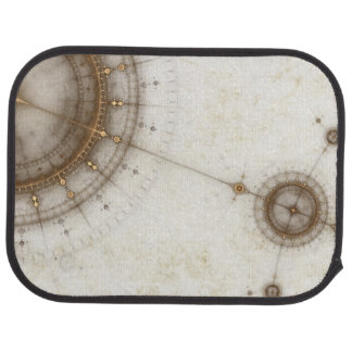 Ancient Nautical Chart, Grunge Car Mat