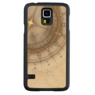 Ancient Nautical Chart, Grunge Carved Maple Galaxy S5 Case
