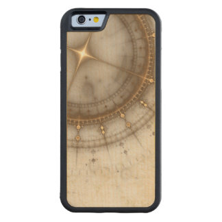 Ancient Nautical Chart, Grunge Carved Maple iPhone 6 Bumper Case