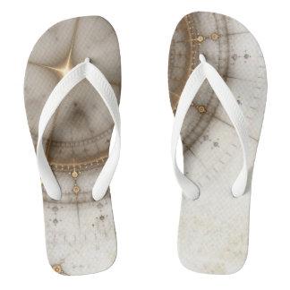 Ancient Nautical Chart, Grunge Flip Flops