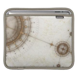 Ancient Nautical Chart, Grunge iPad Sleeve