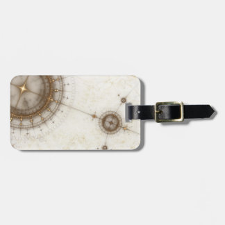 Ancient Nautical Chart, Grunge Luggage Tag