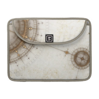 Ancient Nautical Chart, Grunge Sleeve For MacBook Pro