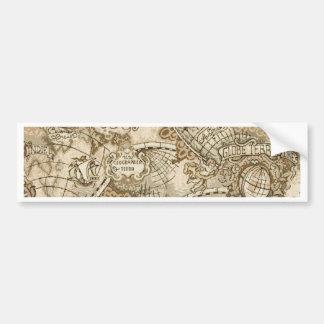 Ancient Old World Map Bumper Sticker