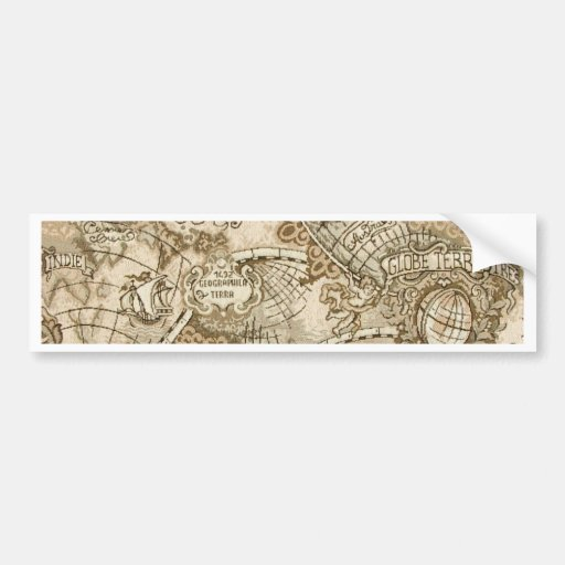 Ancient Old World Map Bumper Stickers