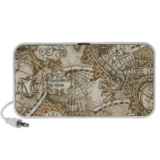 Ancient Old World Map iPod Speakers