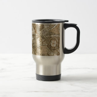 Ancient Old World Map Stainless Steel Travel Mug
