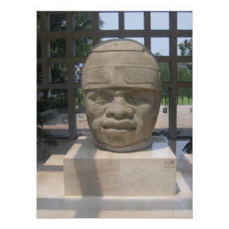 Ancient Olmec Head 4 Poster