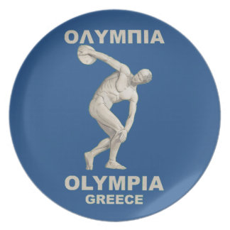 Ancient Olympia Greece Plate