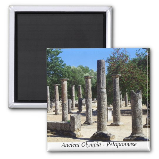 Ancient Olympia - Peloponnese Square Magnet
