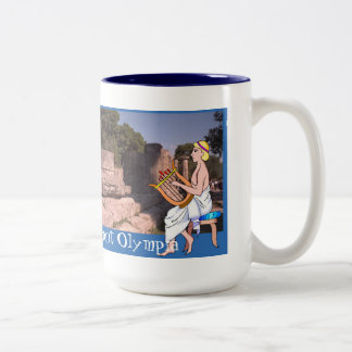 Ancient Olympia, the Heraion Two-Tone Coffee Mug