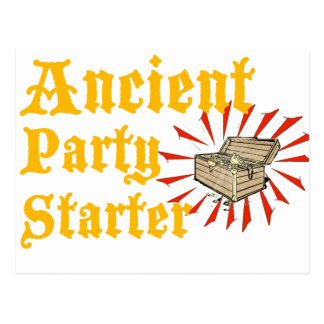 Ancient Party Starter Pirates Treasure Chest Humor Postcard