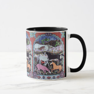 Ancient Persian Horse Design Ornate Colorful Mug