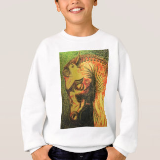 ancient persian horse head sweatshirt