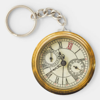 Ancient Pocket Watch Key Ring