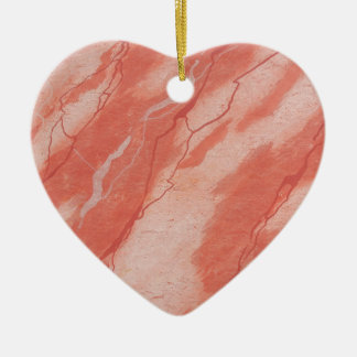 Ancient Pompeiian red marble background Ceramic Heart Decoration
