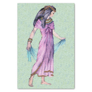 Ancient Pretty Egyptian Lady Princess in Purple Tissue Paper