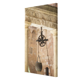 ancient public water well canvas print