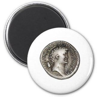 Ancient Roman Coin Marc Antony 6 Cm Round Magnet