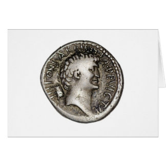Ancient Roman Coin Marc Antony Greeting Card