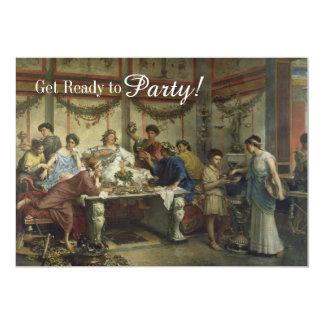 Ancient Roman Dinner Party Feast 13 Cm X 18 Cm Invitation Card