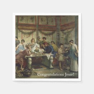 Ancient Roman Dinner Party Feast Disposable Serviette