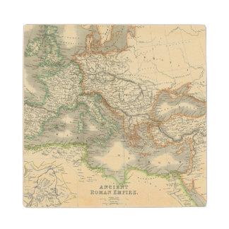 Ancient Roman Empire Wood Coaster