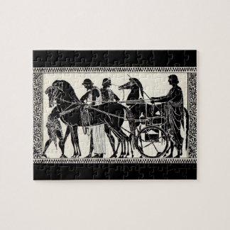 ancient Roman men and horses Jigsaw Puzzle