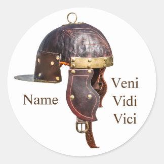 Ancient Roman military helmet Round Sticker