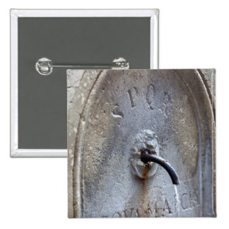 Ancient Roman public water fountain 15 Cm Square Badge